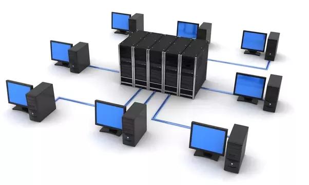 Imagem ilustrativa de topologia de segmentação de redes com um servidor no centro e vários computadores em sua volta